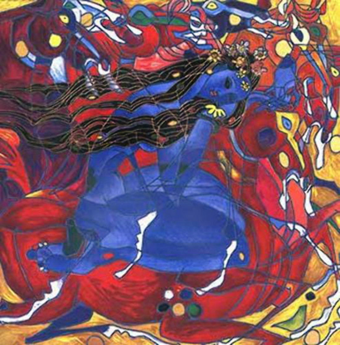 Sweet Lady  Yellow State PP 2001 Limited Edition Print by Tie-Feng Jiang