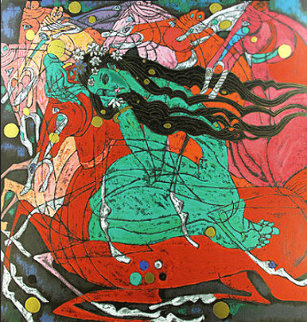 Emerald Lady 1985 Limited Edition Print by Tie-Feng Jiang
