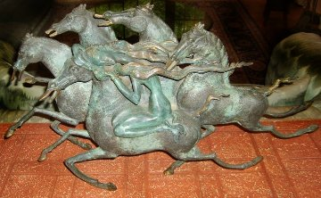 Emerald Lady Bronze Sculpture 1986 29 in Sculpture - Tie-Feng Jiang