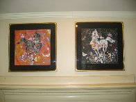 Little Horse Suite, Suite of 2 Paintings 1988 32x32 Original Painting by Tie-Feng Jiang - 2
