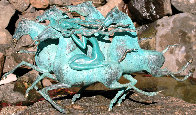 Emerald Lady Bronze Sculpture 1986 29 in Sculpture by Tie-Feng Jiang - 1