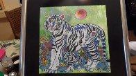 Sun Rising 1998 20x20 Original Painting by Tie-Feng Jiang - 1