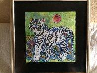 Sun Rising 1998 20x20 Original Painting by Tie-Feng Jiang - 3