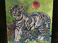 Sun Rising 1998 20x20 Original Painting by Tie-Feng Jiang - 4