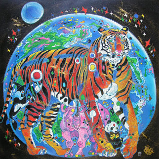 Beautiful Tomorrow 1998 Embellished Limited Edition Print by Tie-Feng Jiang