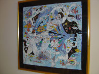 Fish World 1989 49x49 Super Huge Original Painting by Tie-Feng Jiang - 1