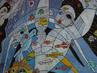 Fish World 1989 49x49 Super Huge Original Painting by Tie-Feng Jiang - 3