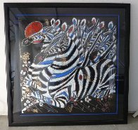 Imperial Zebras 1992 Limited Edition Print by Tie-Feng Jiang - 1
