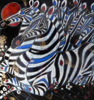 Imperial Zebras 1992 Limited Edition Print by Tie-Feng Jiang