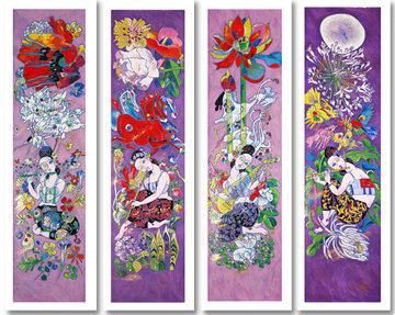 Four Songs of Spring 1999 Limited Edition Print by Tie-Feng Jiang
