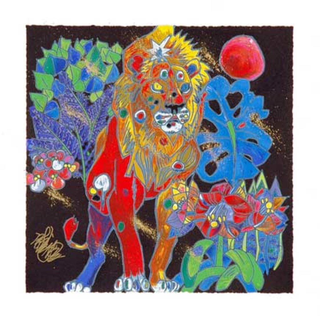Lion 1998 Limited Edition Print by Tie-Feng Jiang
