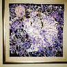 Blue Daisies 1988 53x53 Original Painting by Tie-Feng Jiang - 1