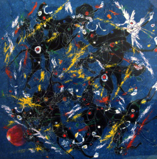 Song of Panthers 1995 Limited Edition Print by Tie-Feng Jiang