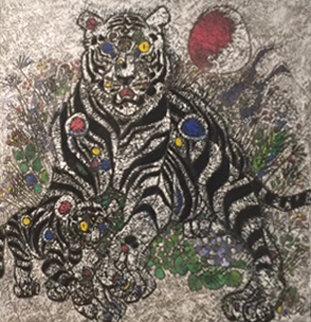 Winter Sun II 1999 56x56  Huge Original Painting - Tie-Feng Jiang