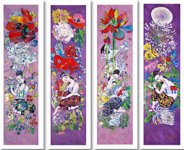 Four Songs of Spring Suite 1999 Limited Edition Print by Tie-Feng Jiang
