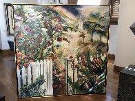 Remember the Beginning 1995 66x66 Super Huge Original Painting by Joseph Kinnebrew - 1