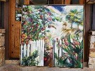 Remember the Beginning 1995 66x66 Super Huge Original Painting by Joseph Kinnebrew - 3