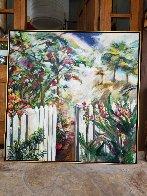 Remember the Beginning 1995 66x66 Super Huge Original Painting by Joseph Kinnebrew - 2