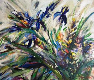 Flying Blues 1993 21x25 Original Painting by Joseph Kinnebrew