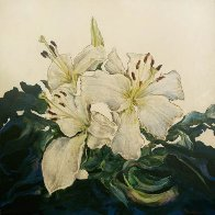 Untitled Floral Painting PTG-2-22-14 2014 Original Painting by Joseph Kinnebrew - 1