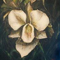 Untitled Orchid  2015 24x24 Original Painting by Joseph Kinnebrew - 0