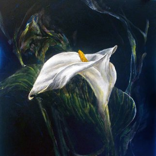 Untitled Lily 2015 24x24 Original Painting - Joseph Kinnebrew