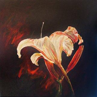 Untitled Lily 2015 24x24 Original Painting by Joseph Kinnebrew