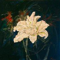 Untitled Lilies 2015 24x24 Original Painting by Joseph Kinnebrew - 1