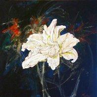 Untitled Lilies 2015 24x24 Original Painting by Joseph Kinnebrew - 0