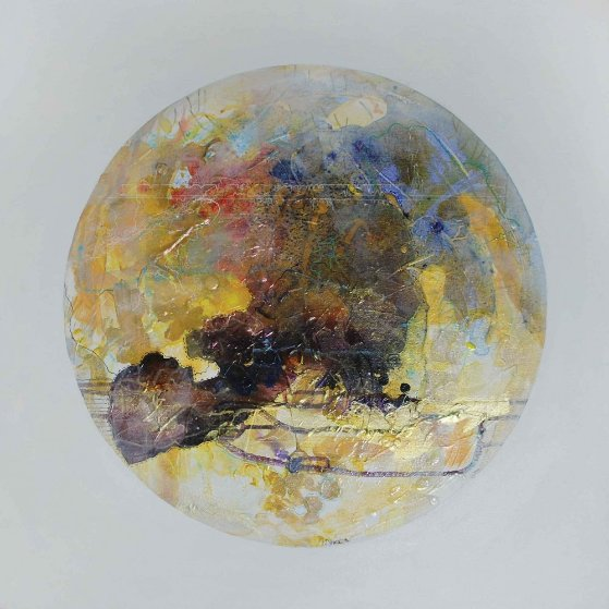Neptune From Celestina 2015 24x24 Original Painting by Joseph Kinnebrew
