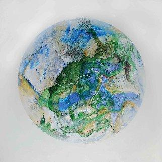 Planet Nine From Celestina 24x24 Original Painting - Joseph Kinnebrew