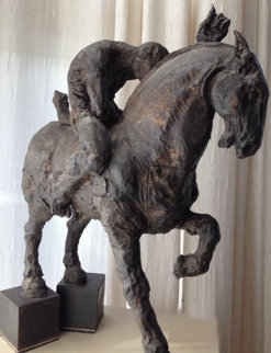 Caballito No. 3 Bronze Sculpture 2000 26x24 Sculpture - Javier Marin
