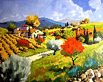Pear Trees in the Fall 2003 Limited Edition Print -  Joanny