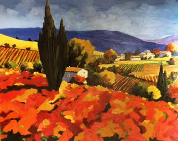 Grape Harvest 2005 42x31 Super Huge Original Painting -  Joanny