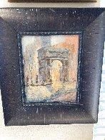 Untitled (Washington Arch) 1950 13x9 NYC Original Painting by Johann  Berthelsen  - 1