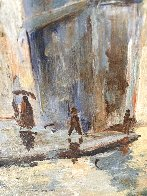 Untitled (Washington Arch) 1950 13x9 NYC Original Painting by Johann  Berthelsen  - 6
