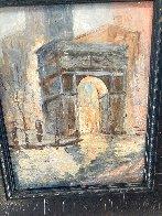 Untitled (Washington Arch) 1950 13x9 NYC Original Painting by Johann  Berthelsen  - 2