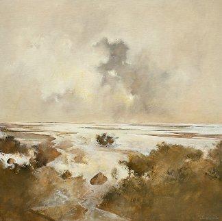 Marsh Scene 1974 46x46 Super Huge Original Painting - John Alexander