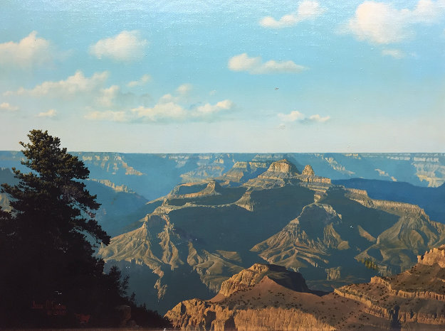 Untitled Grand Canyon  Landscape 1980 20x26 Original Painting by John Cogan