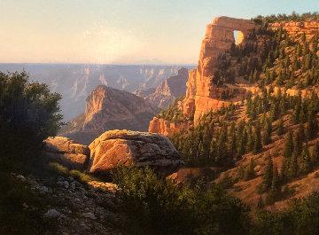 Angels Window - Grand Canyon 1984 24x30 Original Painting - John Cogan