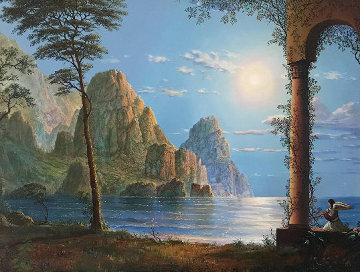 Untitled Landscape Painting 18x24 Original Painting - John Mason