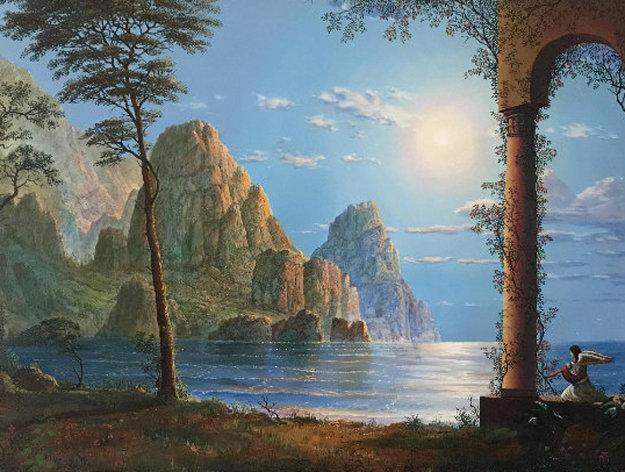 Untitled Landscape Painting 18x24 Original Painting by John Mason