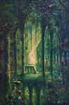 Emerald Cathedral 45x34 Original Painting - John Mason