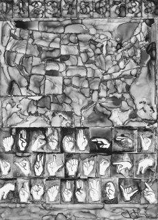 Untitled (A.I.A. Print) 2013 Limited Edition Print - Jasper Johns