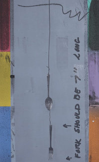 Screen Piece (Fork) PP  1972 Limited Edition Print by Jasper Johns