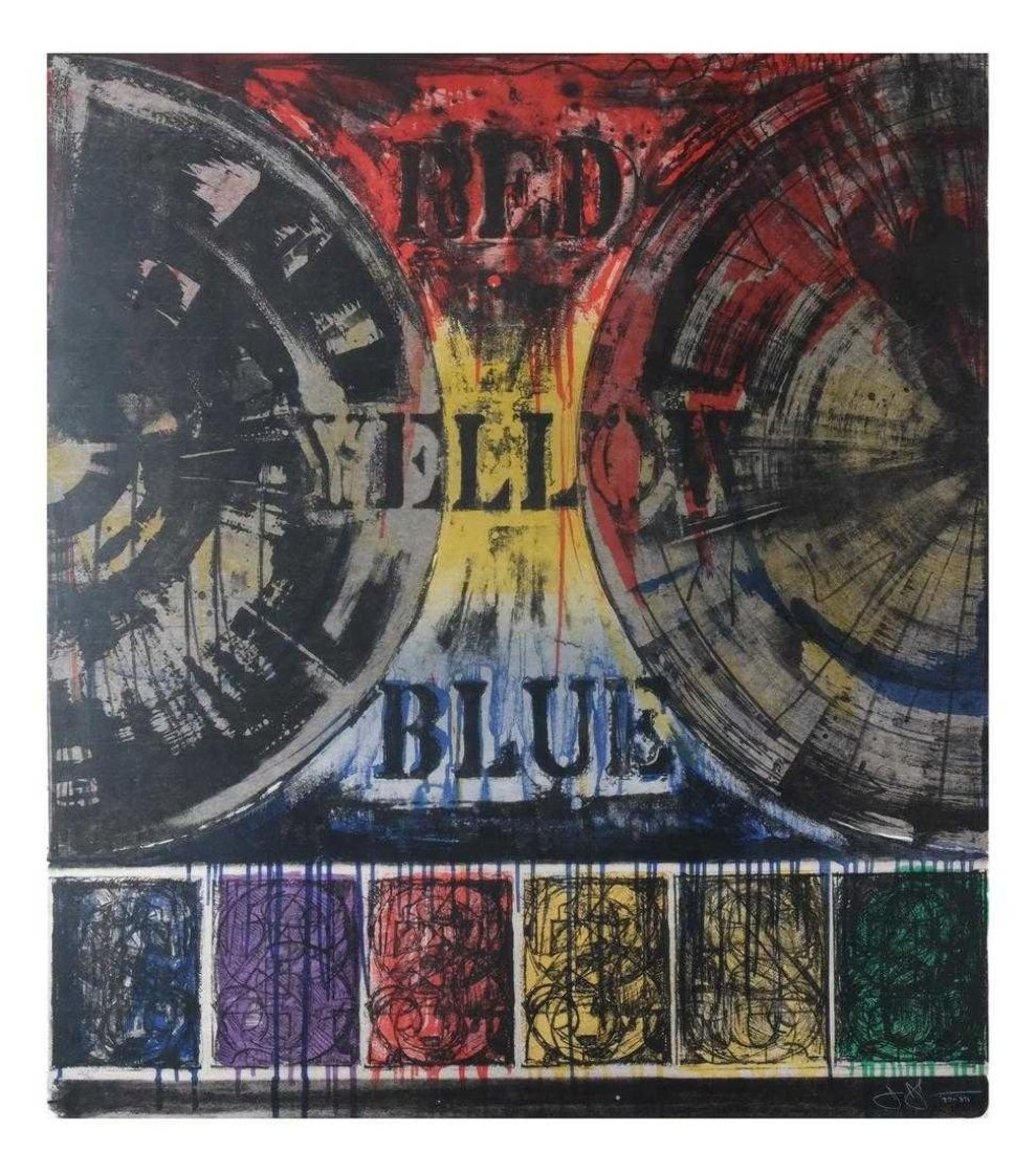 Untitled Lithograph 1977  Limited Edition Print by Jasper Johns