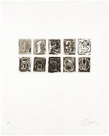 0-9 1975 HS Limited Edition Print by Jasper Johns - 1