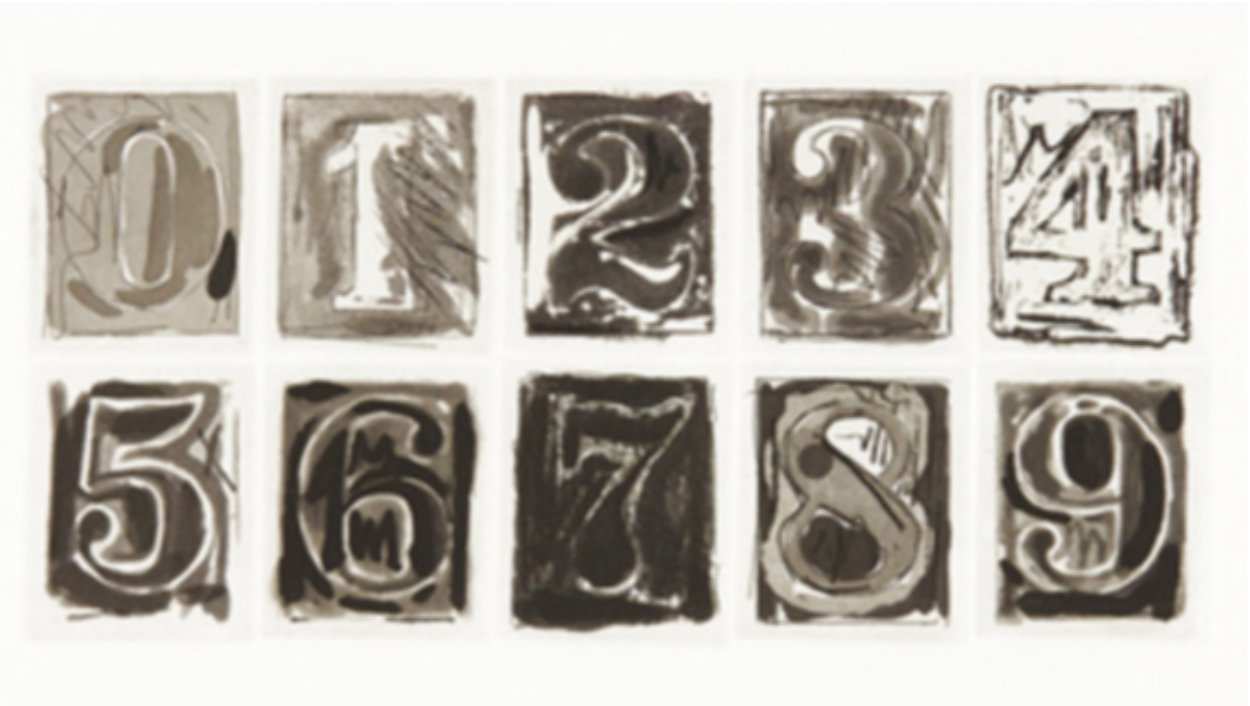 0-9 1975 HS Limited Edition Print by Jasper Johns