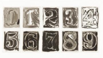 0-9 1975 HS Limited Edition Print - Jasper Johns