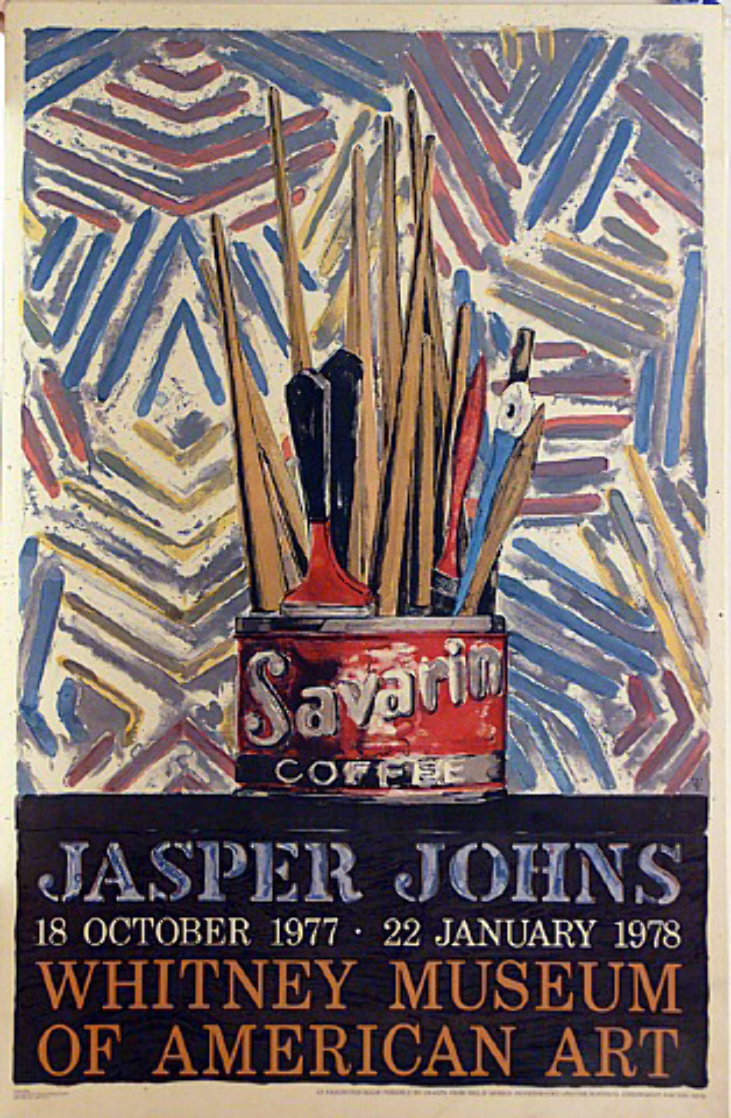 Savarin, Jasper Johns Exhibit at the Whitney Museum Poster 1977 45x30 Super Huge  Limited Edition Print by Jasper Johns